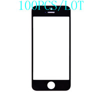 For Apple iPhone YL-001  100PCS LOT High Quality Front Screen Glass Replacement Black And White For iPhone 5 5S 5C Free Shipping