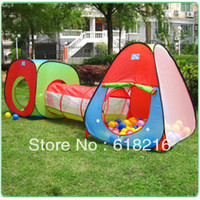 Tents Animes & Cartoons Cloth New Kids Boys Girls Outdoor Indoor Tunnel Tent Play Toy House Set tent with 20 pcs ocean ball gift