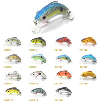 Wholesale Fishing Lure Crankbait Hard Bait Fresh Water Shallow Water Colors Bass Minnow Fishing Tackle C433