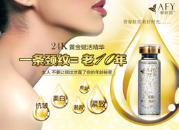 Wholesale Hot Sale AFY Activation High end Gold Revive Essence Recovery Neck Serum Neck Essence Rejuvenating Neck amp Decollete Treatment Skin Repairing