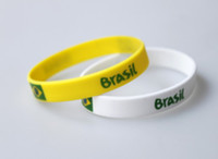 Wholesale MM Size world cup silicone wristbands