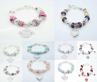 Wholesale Fashion Jewelry European Style Silver Bracelet Multi Beads Fit Charms Pendant Bracelet CM Mixed Styles