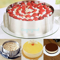 Wholesale 6 quot quot Stainless Steel Cake Mousse Mould Cake Bakeware Adjustable Setting Ring