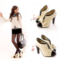 Wholesale WOMEN SEXY HIGH HEEL BEIGE TIE FASHION ANKLE SHOES size US5