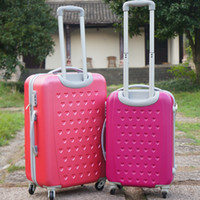 Wholesale Men and women with cartoon KT cat pink large capacity stick luggage