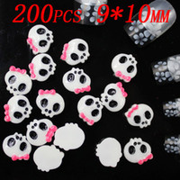 Other art supplies bag - 200pcs bag x9mm Lovely Skull resin nail decoration Manicure nail art supplies