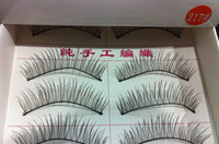 Wholesale long Natural curl False Eyelashes Hand Made MakeUp Cosmetic extension lashes