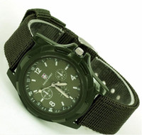 Wholesale 2013 Summer Men Sport Military Army Pilot Fabric Strap Sports Men s Swiss Military Watch colors DHL SHIP
