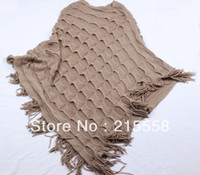 Wholesale 2013 Autumn and Winter Scarves Shawl Women Patchwork Knitted Wrap Shawls Cape Pullover Poncho ZS42