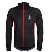 Wholesale Men Fleece Thermal Winter Wind Cycling Jacket Windproof Bike Bicycle Male Coat Clothing Casual Long Sleeve Jersey Pants set