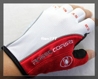 Wholesale Castelli Rosso Corsa Bicycle half finger Cycling Gloves scorpions mountain bike riding silicone GEL gloves