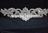 Wholesale 10pcs Luxury Beaded Crystal Rhinestone applique for dress