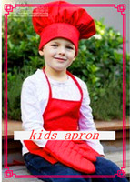 Wholesale children cute toy a set chef cap and kids apron