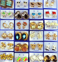 Cluster Rings South American Women's New Jewelry Mix Lots 20pcs Oversize Candy Color Rhinestone&CZ Charm Lady's Rings Fashion Jewellery