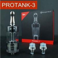 Wholesale Dual coil atomizer Protank3 Kanger Protank e cig glass tanks atomizer suit for joyetech ego c ego t ego w battery DHL