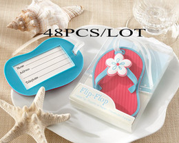 Wholesale by express quot Flip Flop quot Beach Themed Luggage Tag for beach wedding door gift new arrival