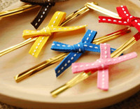 Wholesale colourfull cute wire metallic twist tie for cookie biscuit cake bakery packing