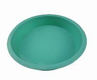 Wholesale Freeshipping pc inch round silicone baking tray cake pizza pan CM Bakeware pie pan