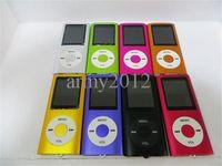 Wholesale portable mp4 player support gb gb gb gbTF card slim mp3 mp4 music player TFT screen FM radio earphone usb cable box