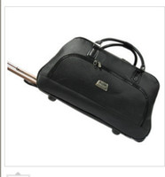 Wholesale 20 inch leather black tie rod bag men and women