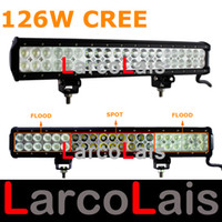 Wholesale LarcoLais quot W Cree LED Work Light Bar Lamp Tractor Boat Off Road Jeep WD x4 V v Truck SUV ATV Spot Flood Super Bright