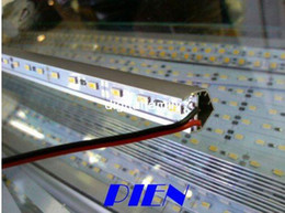 "Warm White 5630 LED Strip Hard strip With ""V"" Style Shell Housing + End Cap Cool White Bar Rigid 5630 SMD 72 LEDs meter Strip Light DHL ship"
