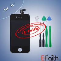 Pour iPhone 4S noir tactile écran LCD digitizer remplacement avec outils ouverts Livraison gratuite