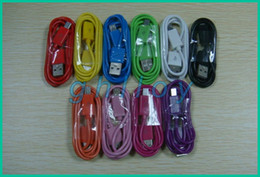 1M Micro USB Data Charging Cable Colorful for Samsung HTC Blackberry cell phone V8 USB Cable cheap 100pcs lot