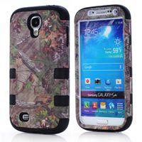 Para S IV S4 I9500 Árboles 3 en 1 Impacto Camo Híbrido Carcasa de caucho de silicona de caucho resistente Protector para Samsung Galaxy S3 I9300