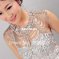 Free Shipping Bridal Wedding Jewelry Sets Shoulder Chain Wed...