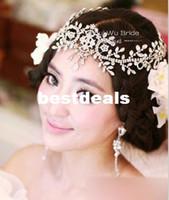 The bride hair accessory rhinestone tassel hair accessory we...