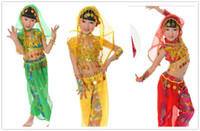 Wholesale children s dancewear Belly dance costumes children s clothing girls costumes Indian dance performance clothing