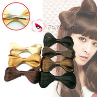 Wholesale Synthetic Fake Hair Bow Clip Lady Gaga Hair Accessories New HCT F CM CM Colors