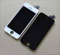 Cheap Front Assembly LCD Display Touch Screen Digitizer Replacement Part for iphone 5 5G AAAA Quality 1pcs Black and White