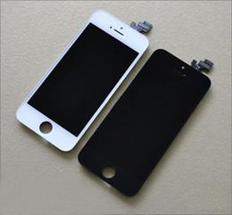 Фронтальная сборка ЖК-дисплея Сенсорный экран Digitizer Запасная часть для iphone 5 5G AAAA Качество 1шт. Черное и белое