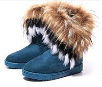 rabbits for sale - Hot sale Fashion Rabbit hair and Fox Fur In tube Color matching warm snow winter boots for women amp ladies