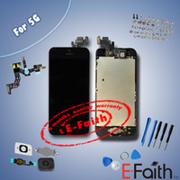 Wholesale Black and white Glass Touch Screen Digitizer amp LCD Assembly Replacement For iPhone g amp Tools amp Freeshipping