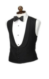 Wholesale 2014 New Hot Sale wool black four buttons shawl lapel men s dress vest men fashion waistcoat CTD017