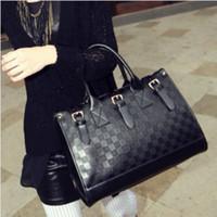 Wholesale Fashion Women Handbag Wallet Leather Casual Bag Women Messenger Bags Office Lady Plaid Shoulder Bag Colors Girls Designer Handbags