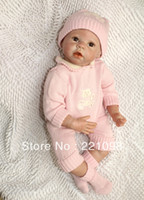 "Cheap 22"" new fashion beautiful lifelike Silicone vinyl dolls reborn baby doll high quality girls toys"