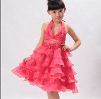 Cheap Retail children clothing baby dress girl princess dress for birthday party free shipping