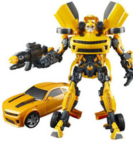 Wholesale Ares deformation hypervariable Diamond Bumblebee Optimus Prime robot boy toy sound and light features genuine