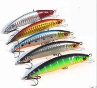 Wholesale 10psc colorful fashion metal Minnow hard baits crank fishing lures cm g