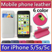 Cheap Folio Wallet Leather Book Style Flip Stand Case Bag Cover with Card Slot Holster for Apple iPhone 5 5G 5S 5C iphone5 iphone5S iphone5C JPS-3