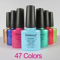 Soak-off Gel Polish Led uv gel 47Fashion Colors Free Shipping 500Pcs lot High Quality Gelexus Soak Off UV LED Nail Gel Polish Long Lasting UV Gel