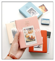 Wholesale 64 Pockets Photo Album Case Decor Storage PVC Credit Cards Holder Mini Film Size Colors