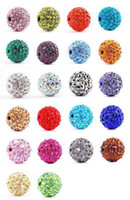 Wholesale Lose Money Sale Shamballa Beads mm AB Clay Crystal DIY Shamballa Disco Ball Beads Mix Color