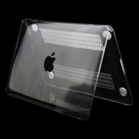 Wholesale Crystal Transparent Clear Logo Hard Case Cover Free Keyboard Silicone Skin For Macbook Air Pro Retina