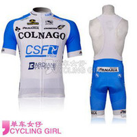 Wholesale hot cycling jersey set Cycling Jacket COLNAGO team blue and white cycling short sleeve and cycling bib short cycling Clothes C00S
