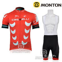 Wholesale 2013 new short sleeve and cycling bib short cycling Clothes CASTELLI team red lightweight cycling team jersey bike suit C00S